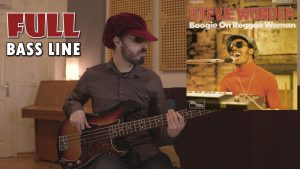boogie on reggae woman stevie wonder bass cover