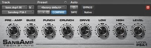 bass guitar synth sound sans amp psa-1