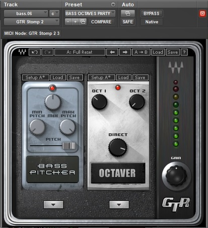 bass guitar synth sound waves gtr stomp
